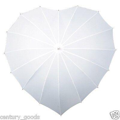Heart Shaped Umbrellas In 3 Colour Choice. Weddings,Birthdays,Valentine, Brides 4