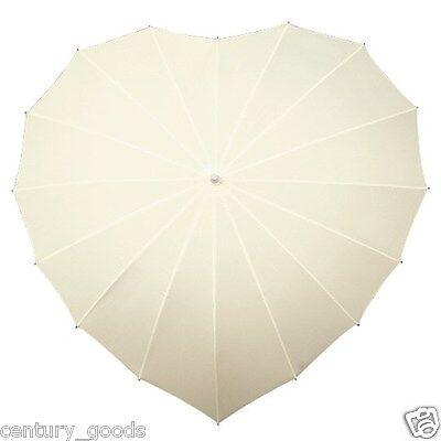 Heart Shaped Umbrellas In 3 Colour Choice. Weddings,Birthdays,Valentine, Brides 2