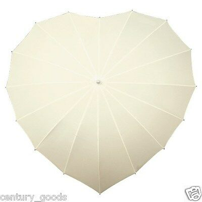 Heart Shaped Umbrellas In 3 Colour Choice. Weddings,birthdays,valentine, Brides