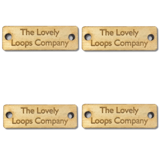 Personalised Walnut Wood RECTANGLE Tags 38mm x 15mm Wooden Handmade Clothing