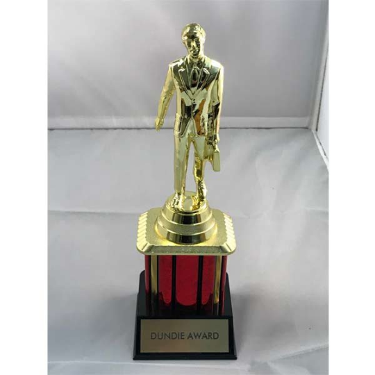 Custom Dundie Trophy Award with your title The Office TV Dunder Mifflin Dundee 1 2