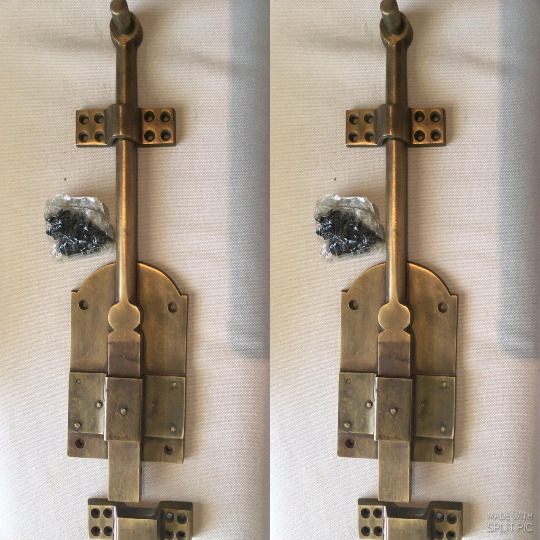 """4 large heavy 12 """" large slide Bolts french old style doors very solid 30cm B 7"""