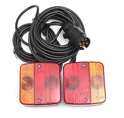 Pré Câblé Van Remorque Arrière Lumière Tableau Phares+7,5m Câble avec E4 4