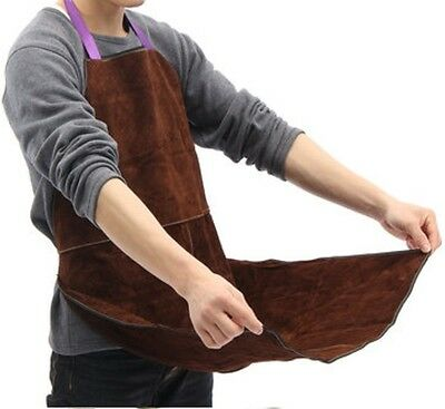 Welding Equipment Welder Heat Insulation Protection Apron Cow Leather 60x90cm 2