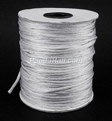 2mm Satin Rattail Cord Shamballa Nylon Macrame Kumihimo String 8