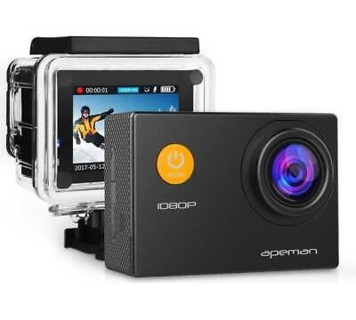 Unterwassercam Actioncam Helmkamera 1080P Full HD 170° Weitwinkel  apeman A60