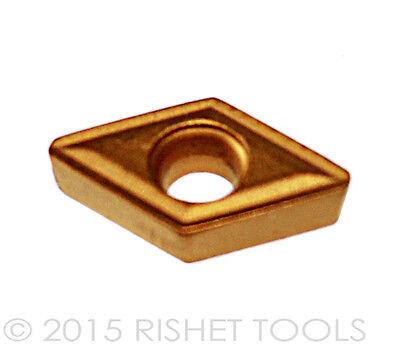 RISHET TOOLS NTP 3R C5 Multi Layer TiN Coated Carbide Inserts 10 PCS