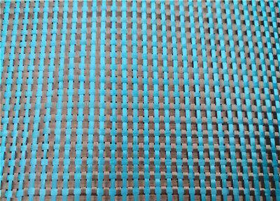 230gsm Lake Blue Aramid Carbon Fiber Blended Fabric mixed carbon cloth 100*50CM 4