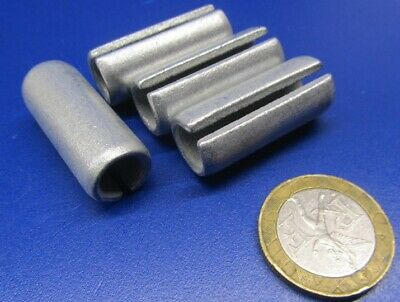 "Zinc Plate Steel Slotted Roll Spring Pin, 1/2"" Dia x 1 1/4"" Length, 20 pcs 9"