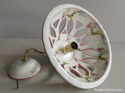 Lampara Vitage , De Ceràmica Con Bonitos Dibujos Florales Hechos A Mano Y 30 Cm 9