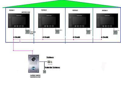 """110°Kamera Video Türsprechanlage/Bildspeicher /16-Melodien 7""""Monitor/Edelstahl 8"""