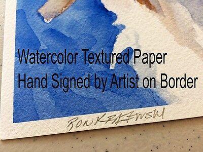 Maltese Art Print Signed by Artist Ron Krajewski Painting 8x10 Dog 2