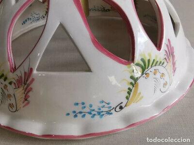 Lampara Vitage , De Ceràmica Con Bonitos Dibujos Florales Hechos A Mano Y 30 Cm 5