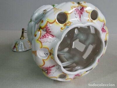 Lampara Vitage De Techo, De Ceràmica Con Bonitos Motivos Florales 8