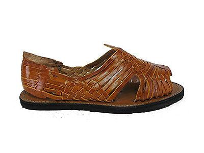 85187e6bb623d ... Men s Leather Hand Made Woven Handmade Huaraches Pachuco Sandals Flip  Flop Slip 3