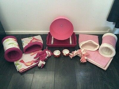 Hedgehog Starter Set,wheel,tray,bowls,bed,blankets And Liners 3