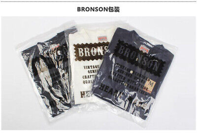Bronson Henley Tee Shirts For Men Summer Vintage Cotton T-Shirts Short Sleeve 11