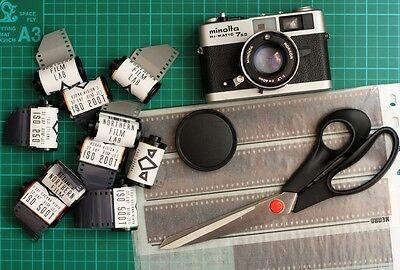 5x Kodak B&W 35mm film. ISO 25, Standard processing, like plus-x double xx movie 2