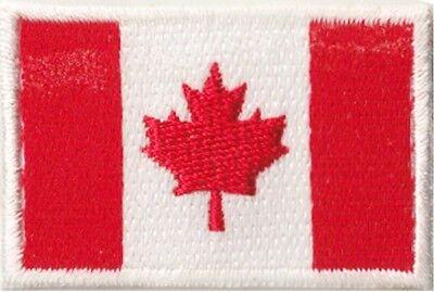Petit écusson drapeau Canada thermocollant badge Canadien 45x30mm 2