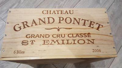 6 x GENUINE FRENCH WOODEN WINE CRATES BOXES  PLANTER HAMPER DRAWERS STORAGE..... 3