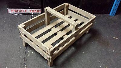 French Genuine Wooden Potato Pannier/ Trug Vegetable Basket Display Case Crate.. 5