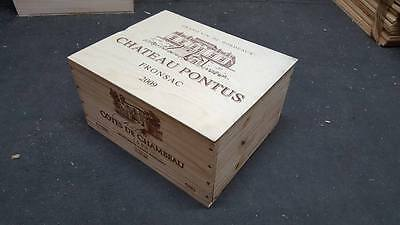 1 X 6 Bottle With Lid - Genuine French Wooden Wine Crate Box Christmas Gift Idea 6