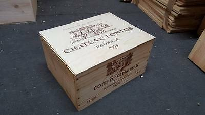 1 X 6 Bottle With Lid - Genuine French Wooden Wine Crate Box Christmas Gift Idea 7