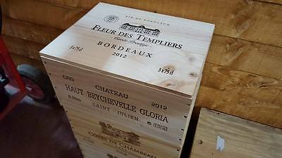 1 X 6 Bottle With Lid - Genuine French Wooden Wine Crate Box Christmas Gift Idea 4