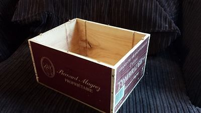 1 X Genuine French Wooden Wine Box Bookcase / Shelves / A4 Paper Storage Archive 4