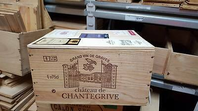 1 X 6 Bottle With Lid - Genuine French Wooden Wine Crate Box Christmas Gift Idea 3
