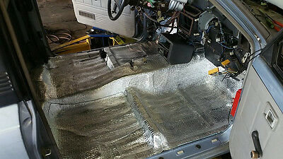 Adhesive Car Insulation 100 Sqft Thermal Heat Sound Deadener Block Automotive