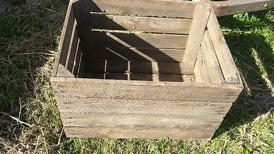 European Vintage Wooden Apple Fruit Crates Rustic Old Bushel Box Shabby Chic 4