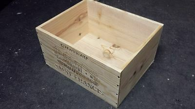 1 X Genuine French Wooden Wine Box Bookcase / Shelves / A4 Paper Storage Archive 5