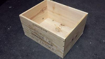 1 X Genuine French Wooden Wine Box Planter Hamper Display Storage Wedding Decor 5