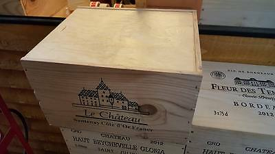1 X 6 Bottle With Lid - Genuine French Wooden Wine Crate Box Christmas Gift Idea 2