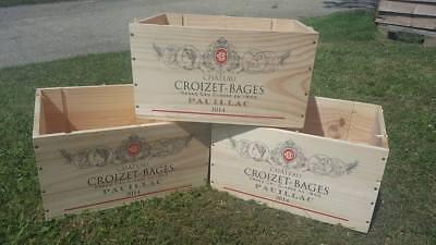 6 x GENUINE FRENCH WOODEN WINE CRATES BOXES  PLANTER HAMPER DRAWERS STORAGE..... 2