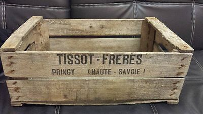Vintage Wooden Tissot Pear Fruit Crates Rustic Old Bushel Box French Apple .* 2