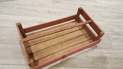 French Large Pink Tint Wooden Potato Pannier Trug Vegetable Basket Display Crate