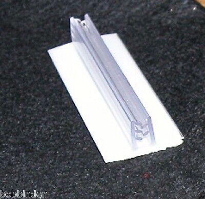 GLASS FLAT /& VERT BOX OF 10 METAL PRICE TAG /& SIGN GRIPPER SELF STICK TO WOOD