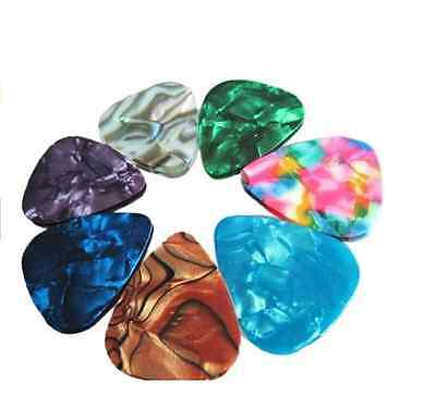 Acoustic Bulk Guitar Pick Picks Plectrum Celluloid Electric Smooth0.46mm 10X 5
