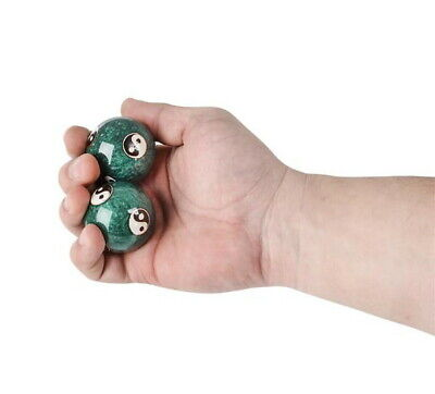 Chinese Health Exercise Stress Baoding Balls Relaxation Therapy Yin Yang Design 2