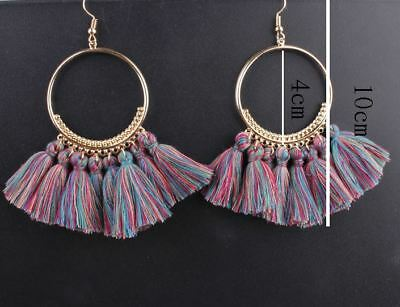 Fashion Women Bohemian Ethnic Tassel Dangle Hook Drop Boho Earring Jewelry AU 2