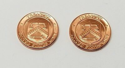 United States Mint Treasury Uncirculated Philadelphia /& Denver Penny Medal Coin