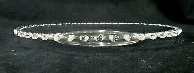 """2 Imperial Glass Candlewick Clear (Stem 3400) 8 3/4"""" Luncheon Plate 3"""