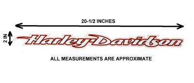 Harley Davidson Script Windshield Decal 20.5 Inches Wide * Made In The Usa * 3