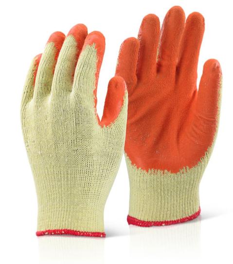 10 Pairs Rubber Safety Gripper Gloves Mens Builders Gardening DIY Work Gloves 8