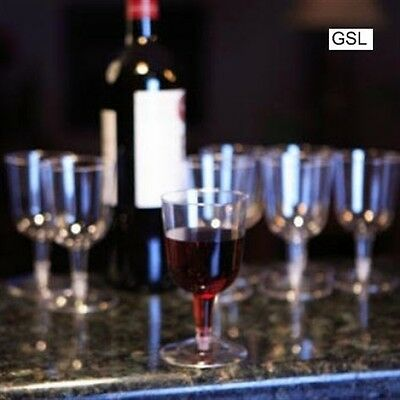 GSL 48 x Clear Plastic Disposable Party WINE Glass Glasses - 175ml 2