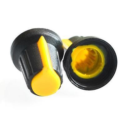 10X Fünf Farben-Gesicht Plastik für Rotary Taper Potentiometer Loch 6mm Knopf FL