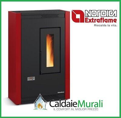 Ofen in Pellet La Nordica Extraflame Kurzweilig 4,8 Kw Verschiedene Farben - Neu 2