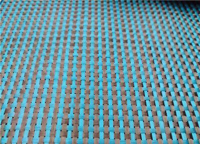 230gsm Lake Blue Aramid Carbon Fiber Blended Fabric mixed carbon cloth 100*50CM 3